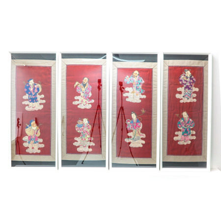 Set of 4 Chinese KESI Panels