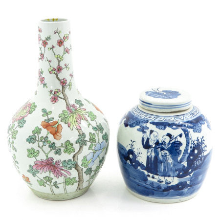 A Ginger Jar and Bottle Vase