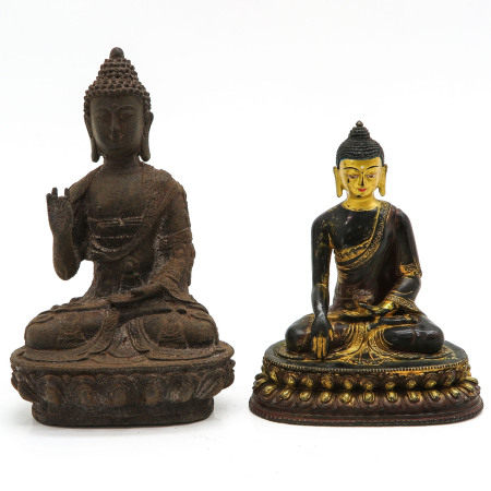 Two Buddha Sculptures