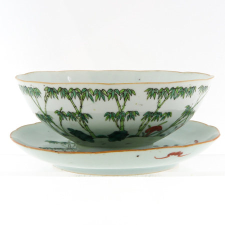 A Polychrome Decor Bowl and Dish