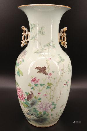 中国 - 石竹鹌鹑纹饰花瓶