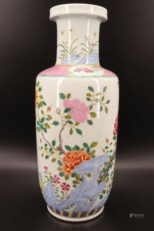 中国 - 石竹花卉纹涡卷形花瓶