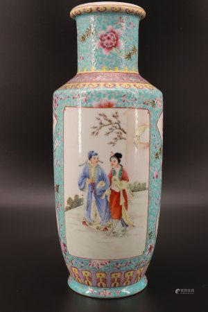 中国 - 共和国人物纹花瓶 20世纪