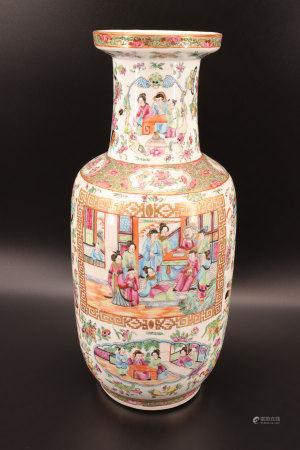 中国 - 广州陶瓷花瓶 19世纪