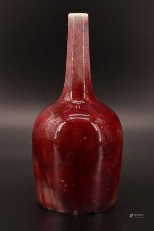 中国 - 牛血花瓶 19世纪
