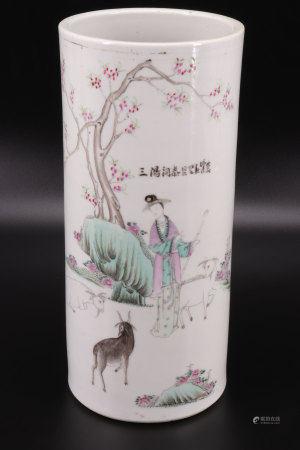 中国 porte pinceaux décor de chèvres