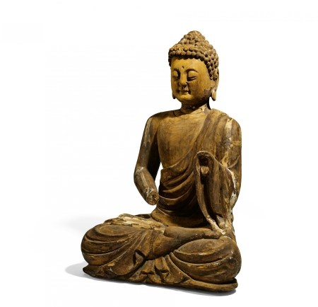IMPORTANT AND LARGE MEDITATING BUDDHA