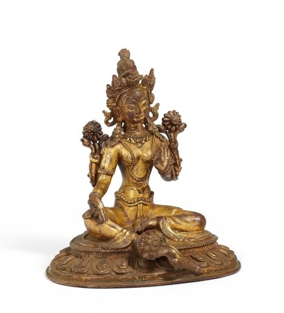 ELEGANT FIGURE OF THE GREEN TARA