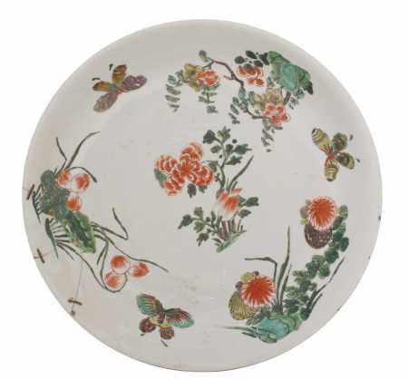 A Chinese famille verte charger,