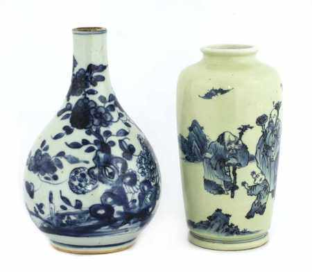 Two Chinese blue and white vases,