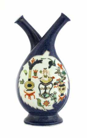 A Chinese oil and vinegar bottle,