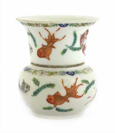 A Chinese famille rose cup and bowl,