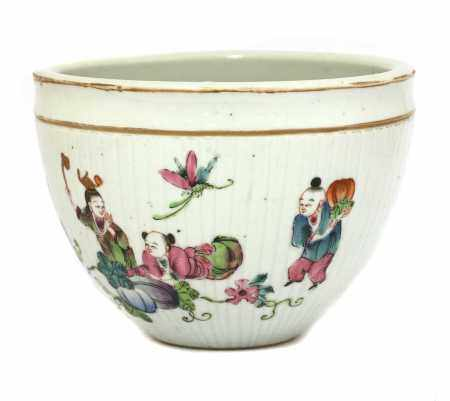A Chinese famille rose pot,