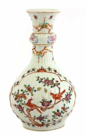 A Chinese famille rose vase,