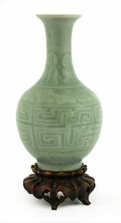 A Chinese celadon vase,