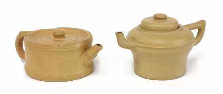 Two Yixing duanni teapots,