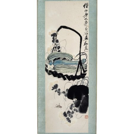 After Qi Baishi (1864-1957) published by Duo Yun Xuan, melons and insects, ink and colour on paper