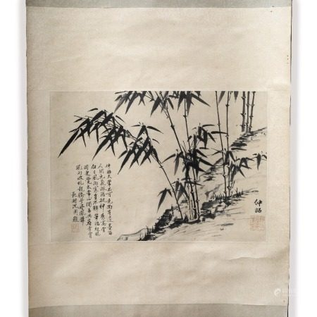 Hsia Chung-Chao Bamboo study, hanging scroll, ink on paper 30cm x 44cm
