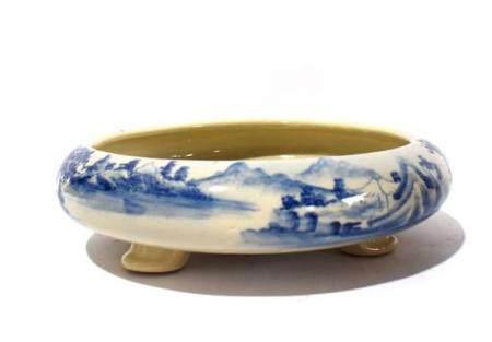 An Underglaze Blue Float Bowl Painted with Idyllic Landscape