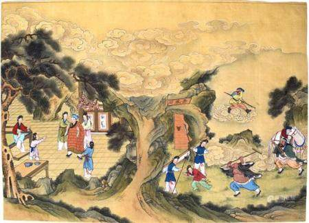 Journey to the West, Ink & Colour on Silk, China, Republic P