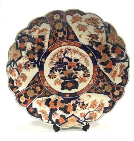 An Imari Charger with a Scalloped Rim, Japan, Meiji Period,