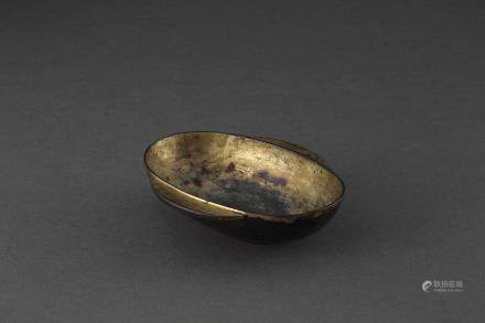 銅鎏金羽觴杯