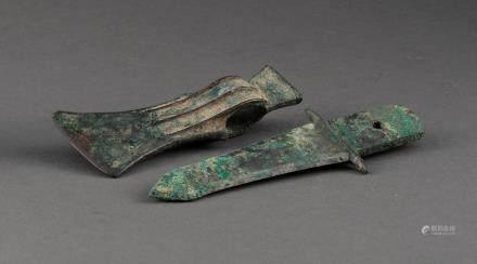 青銅匕首 管銎式斧
