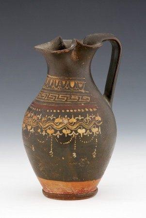 VERSEUSE de type œnochoé  - Travail antique du IVe-IIIe Siècle av. J.-C. [...]