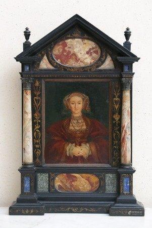 ECOLE Italienne du XIXème Siècle de Style Renaissance  - Portrait d'homme et de [...]