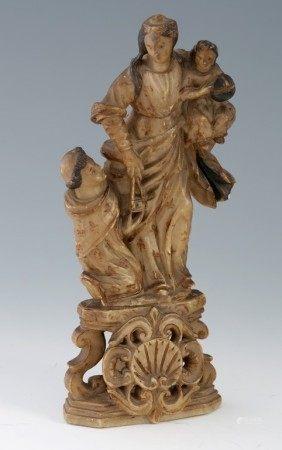 ITALIE du Sud - Trapani - Fin du XVIIème Siècle  - L'Apparition de la Vierge du [...]