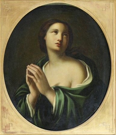 ECOLE Française du Milieu du XIXème Siècle  - Jeune fille en prière HUILE SUR [...]