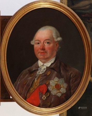 ECOLE FRANCAISE DU XVIIIème SIECLE  - Portrait présumé d'un ambassadeur ou [...]