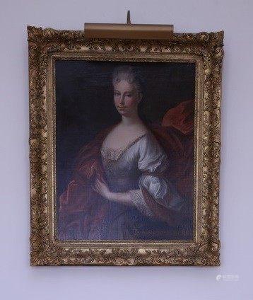 ECOLE FRANCAISE du XVIIIème Siècle  - Portrait de femme de qualité HUILE SUR TOILE [...]