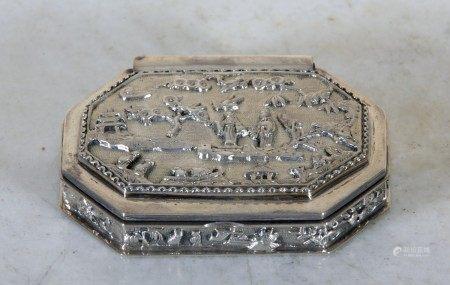 TABATIERE Angleterre - Style XVIIIème Siècle - Moderne  - Argent 800 Millièmes [...]