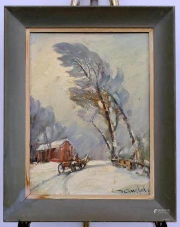 BELLA DE TIREFORT AMERICAN 1894-1993 SNOW SCENE