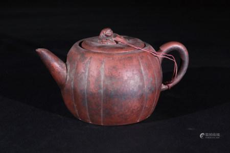 紫砂獸鈕茶壼