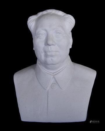 素胎毛主席瓷塑像