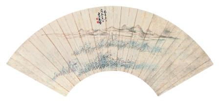 叶化成(清)夜泊图1846年作