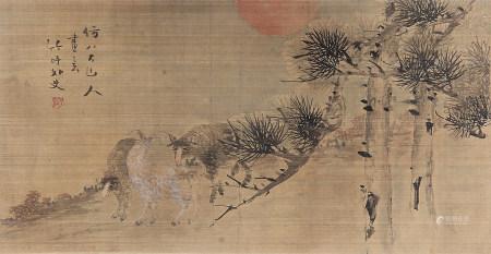 马兆麟(1837-1918)三羊开泰