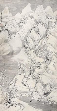 马兆麟(1837-1918)空山积雪