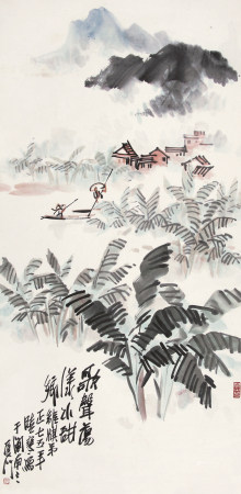 张晓寒(1923-1988)歌声荡漾水甜乡1975年作