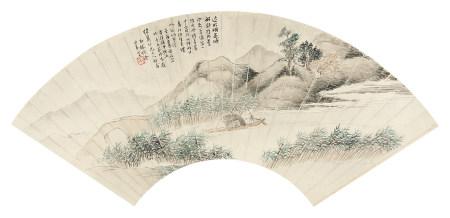 林纾(1852-1924)泛舟图