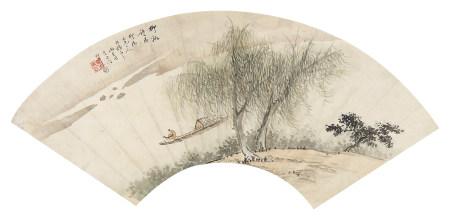 汤雨生(1778-1853)柳溪诗思