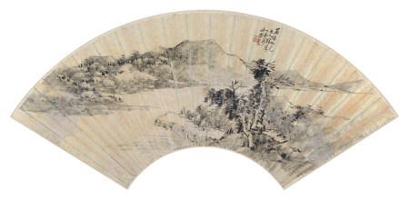 陶焘(1825-1900)山水1897年作