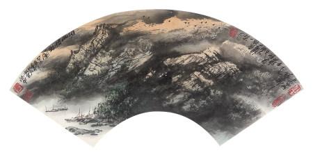 李德甲(b.1950)河山清韵图2003年作