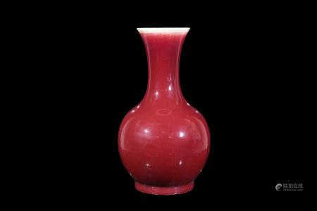 朗紅釉瓶 (修補)