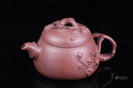 紫砂梅花茶壼