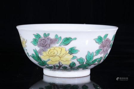康彩花卉碗