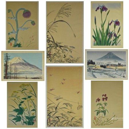 Grp: 8 Japanese Woodblock Prints Tomikichiro Tokuriki