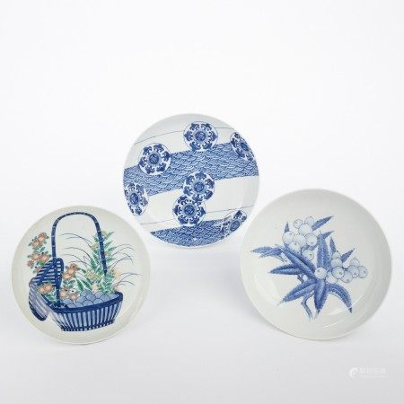 Grp: 3 Japanese Nabeshima Porcelain Bowls